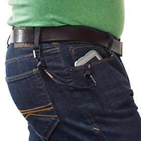 Phone Lasso Worn on the Hip